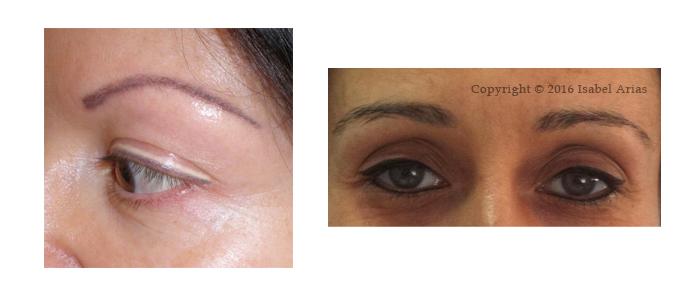 comparación de tatuaje de ojos